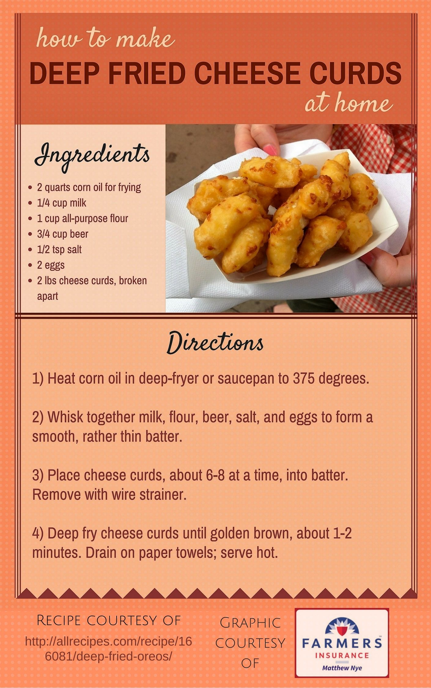 how to make deep fried cheese curds at home! homemade state fair food