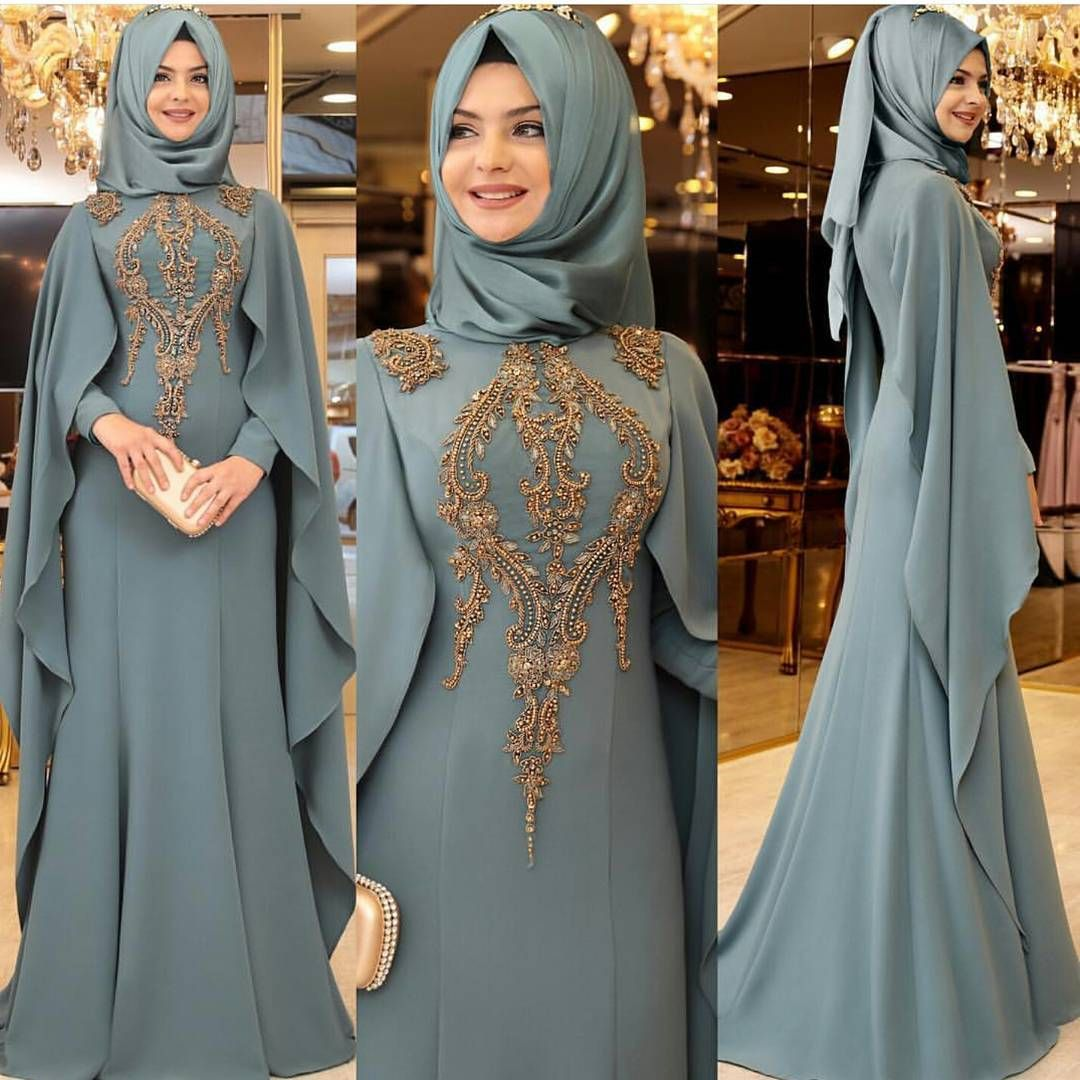 Pinar Sems Piraye Abiye Long Dress Fashion Muslimah Dress Muslimah Fashion
