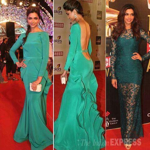 Deepika Padukone Emerald Green Evening Dress Deepika Padukone Dresses Dresses