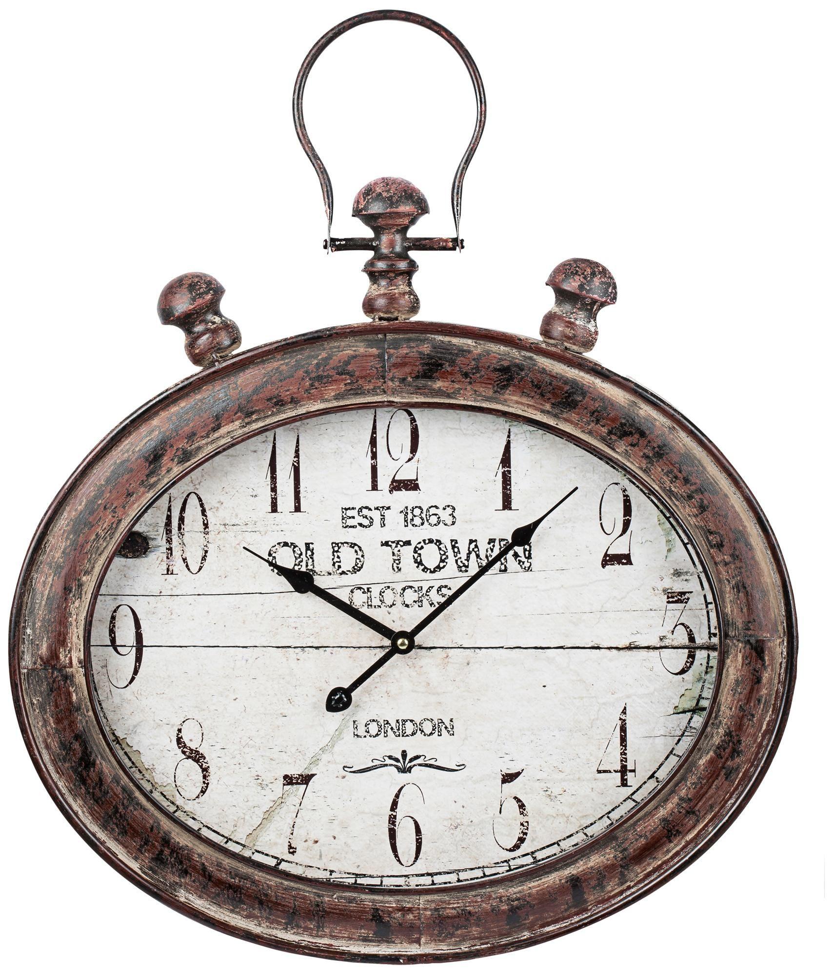 Cooper Classics Amanda 25 3 4 High Brown Black Wall Clock Y3424 Lamps Plus Black Wall Clock Metal Wall Clock Large Oval Wall Clock