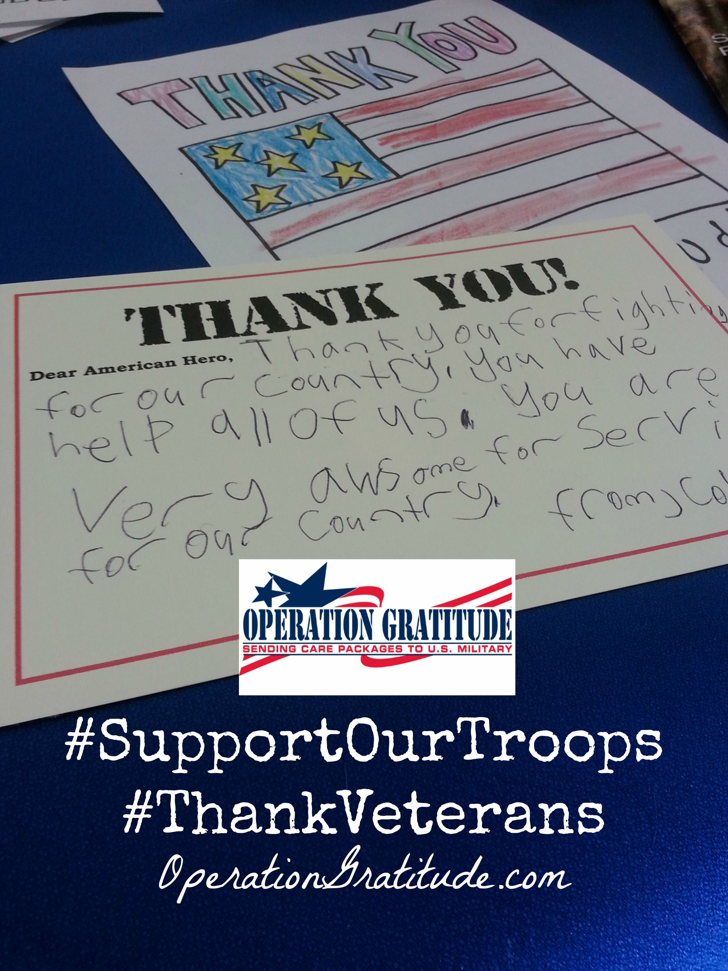 Looking For A Way To Give Back To The Military Community Why Not Take Time To Write A Few Letters Of Letters For Kids Operation Gratitude Troops Care Package