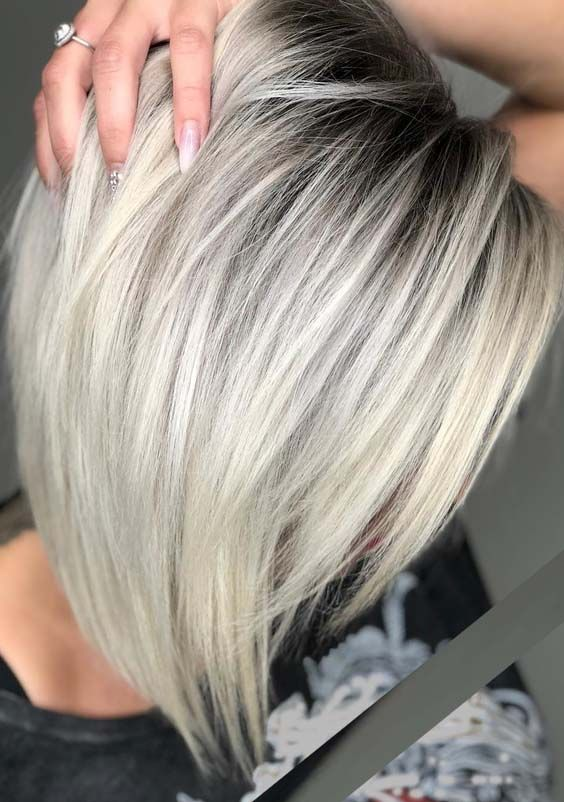 33 Different Platinum Rooty Blonde Hair Color Ideas In 2018