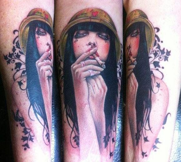 Realism Woman Tattoo by David Corden - http://worldtattoosgallery.com/realism-woman-tattoo-by-david-corden-4/