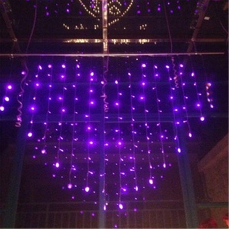 pinkpurple romantic heart led wedding curtain lights christmas window decorations for homeroom - Led Christmas Window Decorations