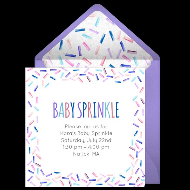 Free Baby Sprinkle Invitations In 2019