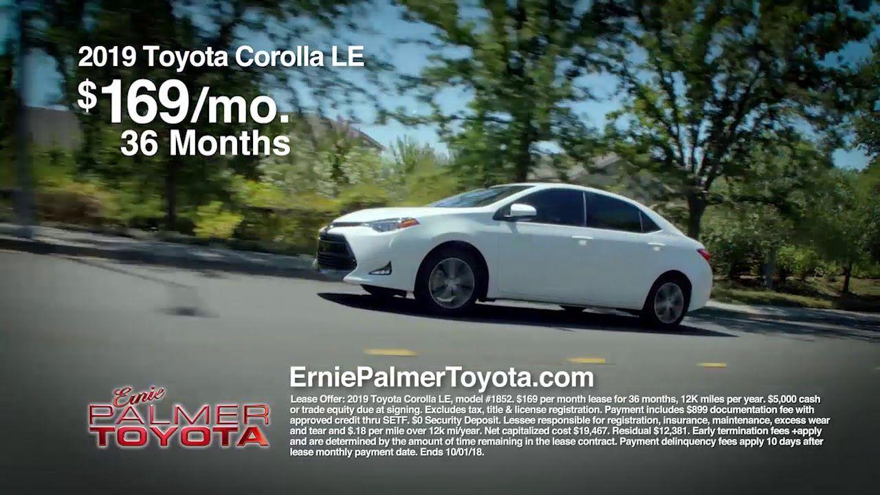 Ernie Palmer Toyota September Deals Corolla R2 Toyota