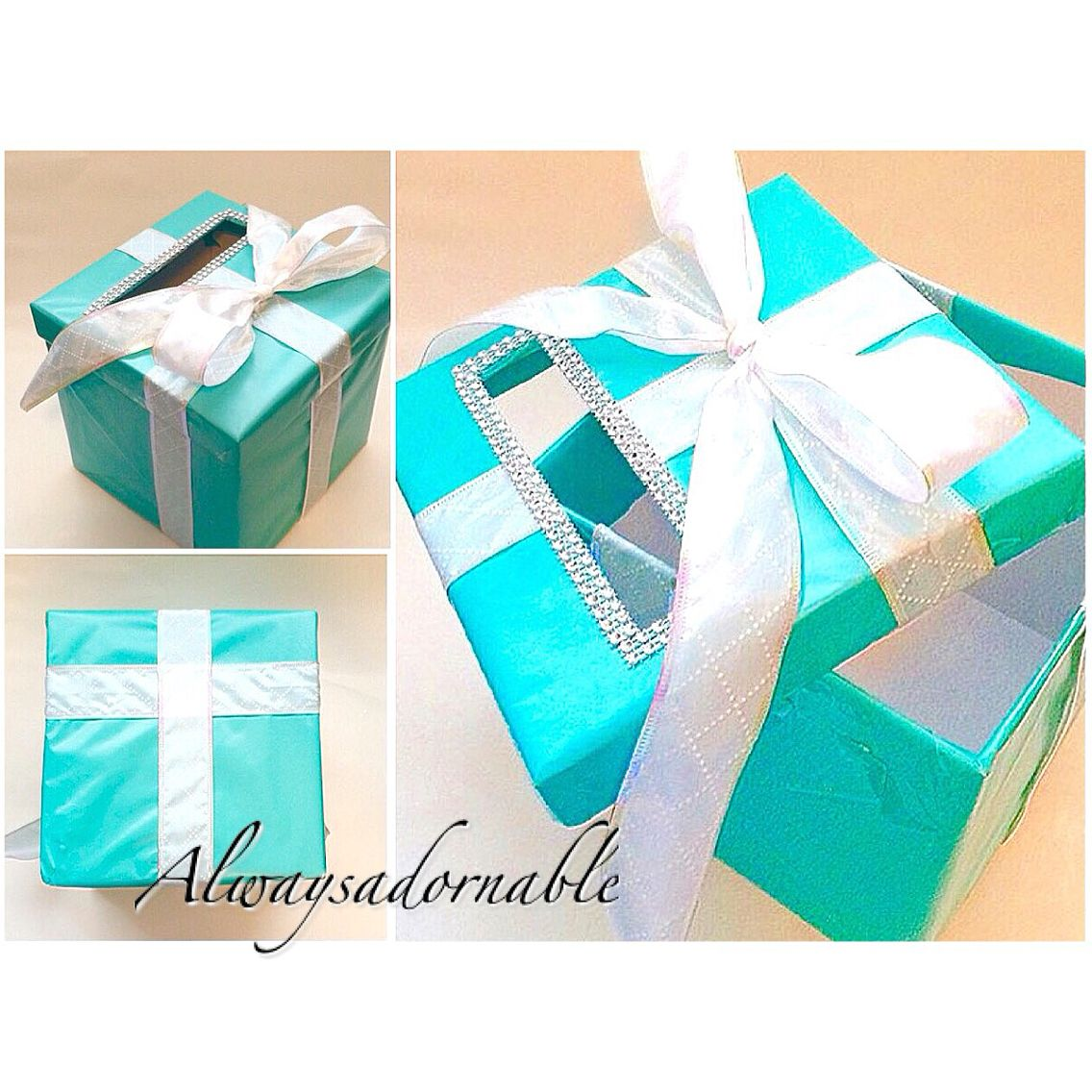 Wedding Or Event Gift Card Box Handmade By Alwaysadornable Shop