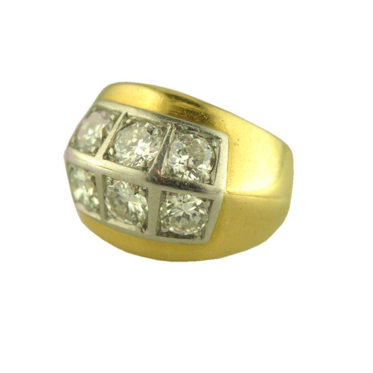 1stdibs.com | Yellow gold diamond ring designed by Belperron for Rene Boivin