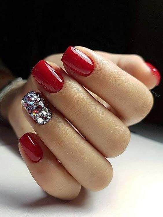 Cute Red Nail Arts and Nail Designs - 50 Unique Nail Art Designs For 2018 (Best Nail Images) Nails