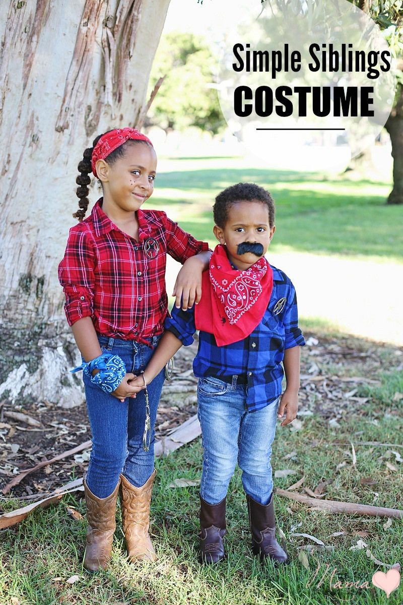 diy halloween costume for siblings cowboy and cowgirl - Halloween Ideas For Siblings