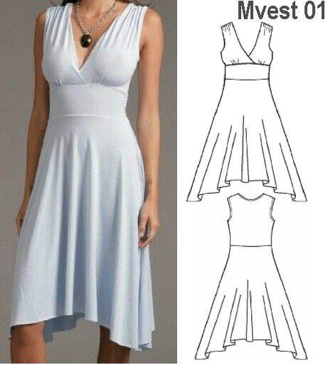 Moldes para blusas y vestidos gratis - Imagui | telas | Pinterest ...