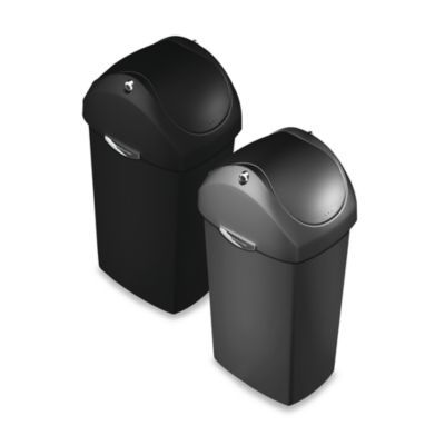 Best Simplehumanâ® Plastic Swing Lid 60 Liter Trash Can 400 x 300