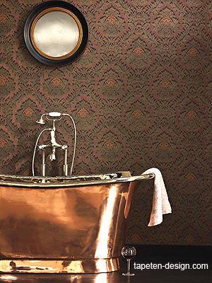 Tapeten Design Barock Muster im Bad osborne little kaufen | Tapete ...