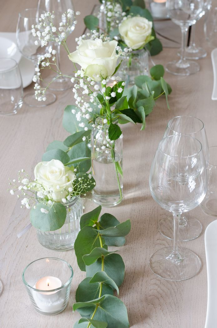 Photo of Table decoration with eucalyptus – a variant for the small budget