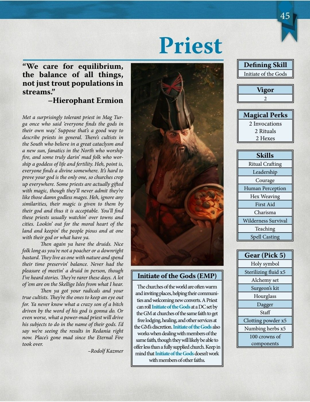 Priest (The Witcher Pen & Paper RPG) Roleplaying game