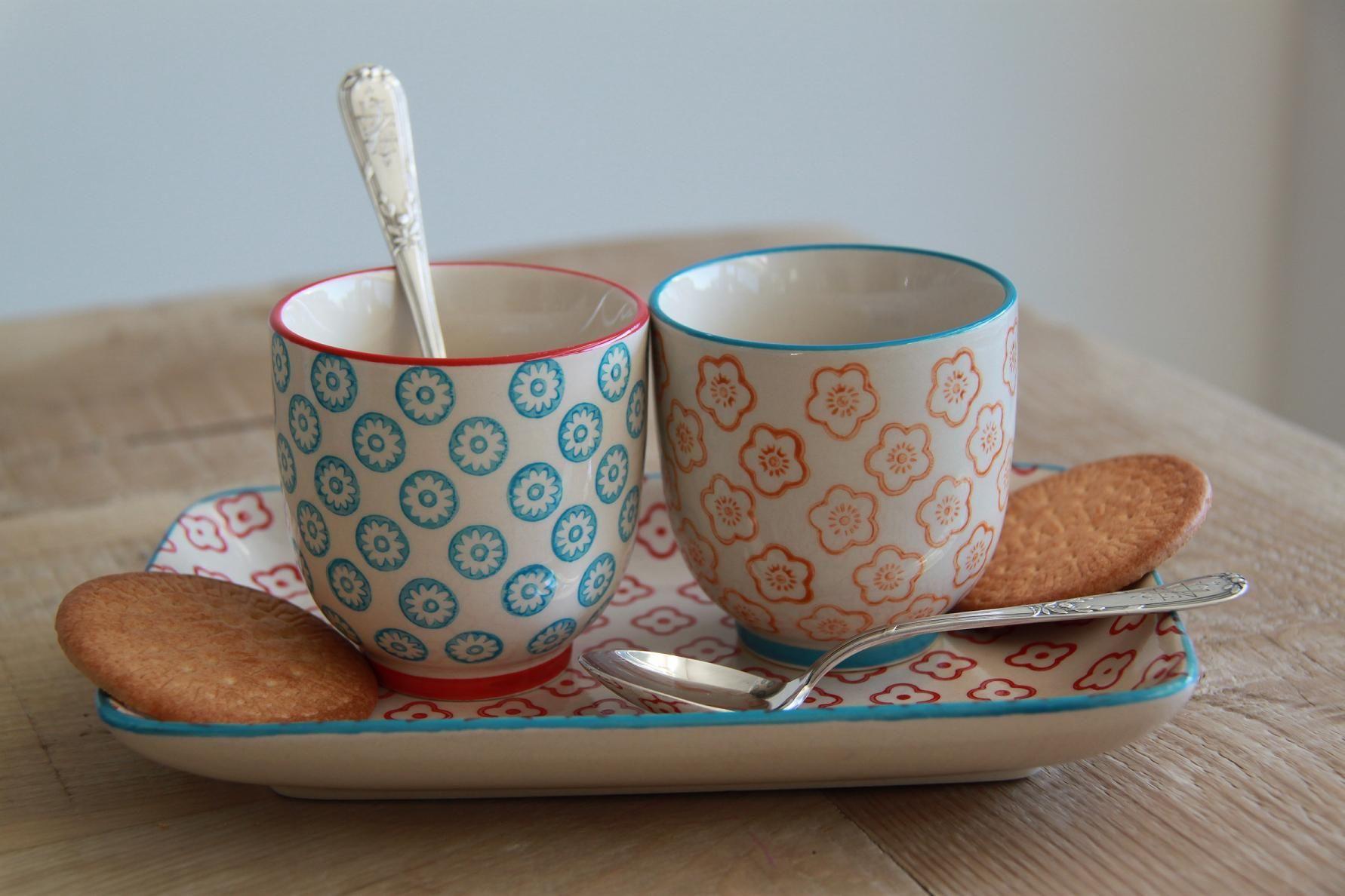 Juego de tazas de té o café, de la colección Naïf de MAISON ARTIST ...