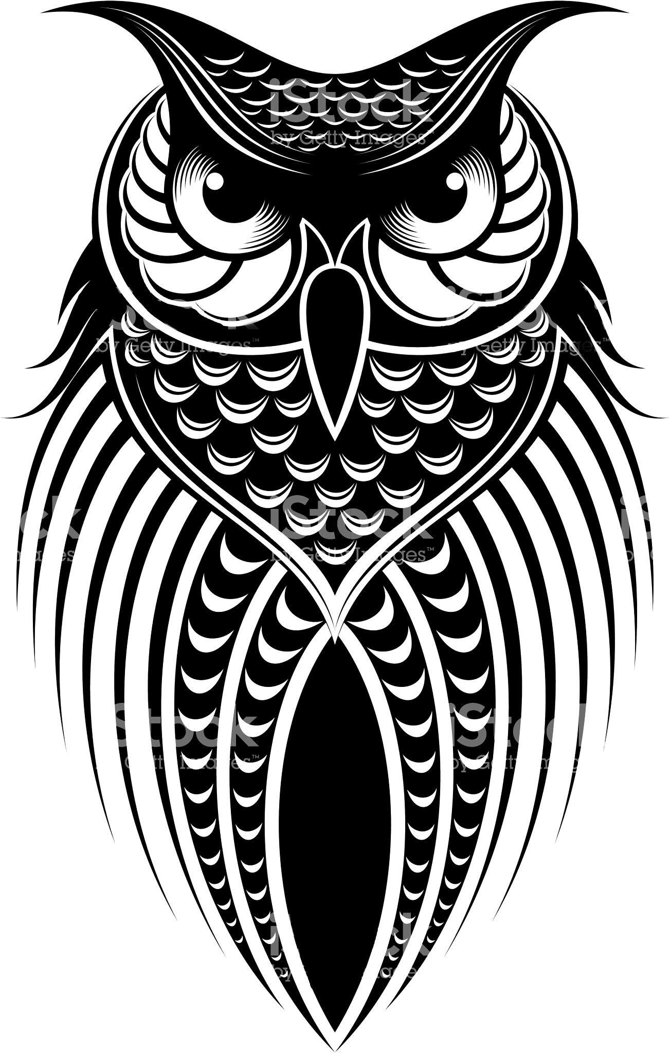 Vector Art White bird tattoos, Owl tattoo design, Owl