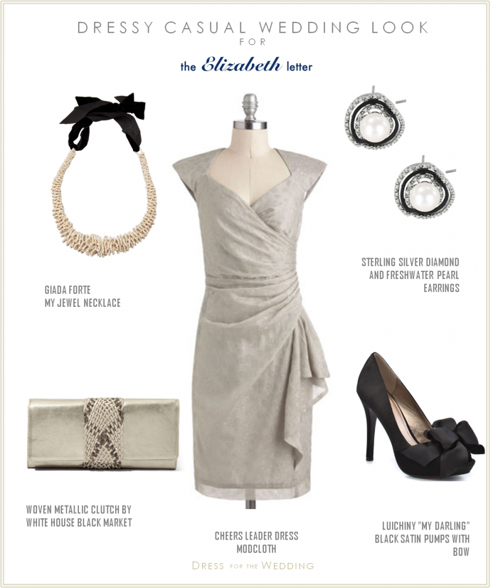 The Elizabeth Letter: Guest Post: A gray dress for the wedding guest