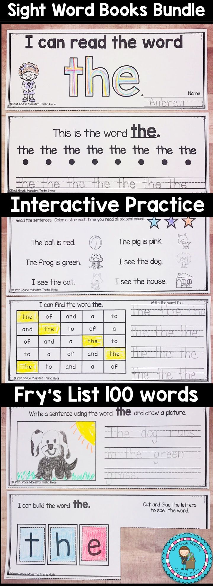 these interactive sight word high fluency word books make excellent practice for your kindergarten and first grade students they are high engagement and