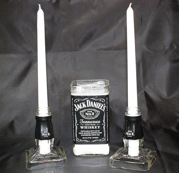 Photo of Items similar to Unity Candle Set, Jack Daniels Candle Set, Wedding Candle Set, Unique Candle Set on Etsy