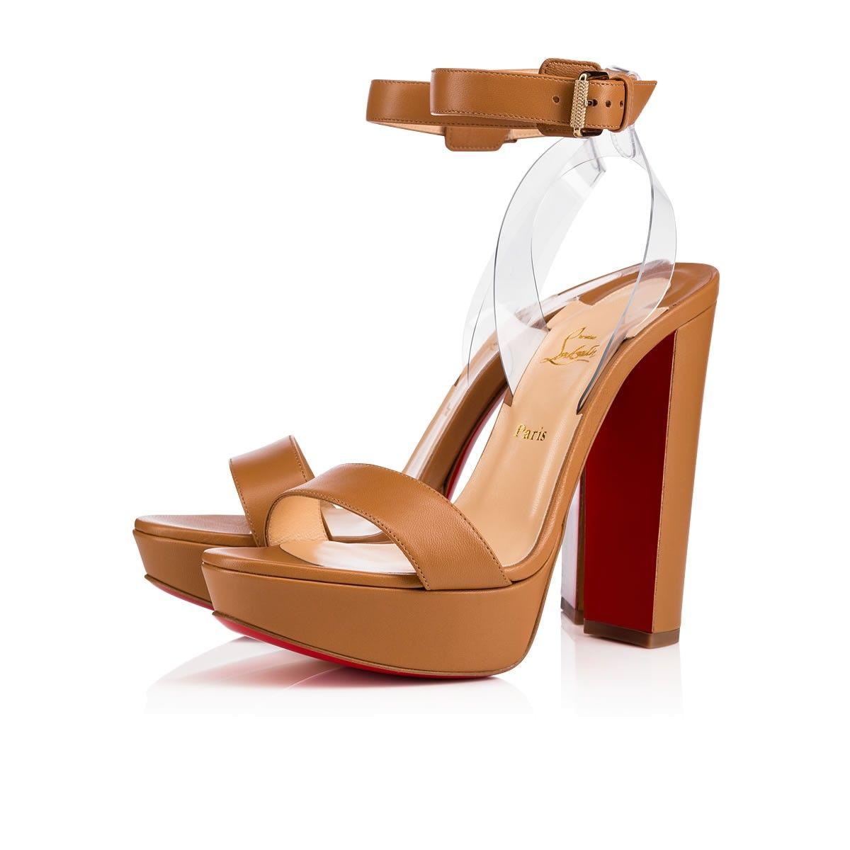 5b2ec14f5035 CHRISTIAN LOUBOUTIN Cherrysandal 140 Nappa Pvc Nappa 140 Nude 4 Nappa -  Women Shoes - Christian Louboutin.  christianlouboutin  shoes