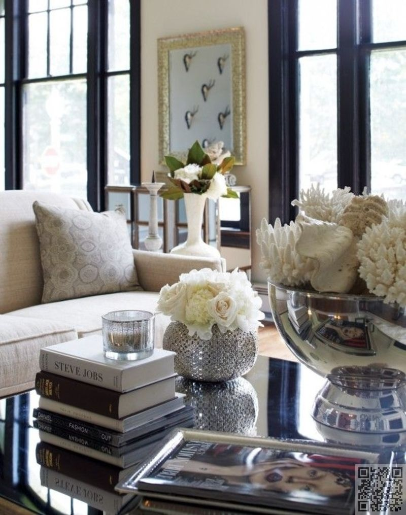 53 Coffee Table Decor Ideas That Don T Require A Home Stylist Elegant Living Room Coffee Table Decor Living Room Decorating Coffee Tables
