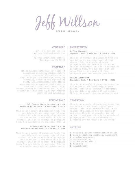 Resume Template CV (Resume) Example Templates Pinterest Resume