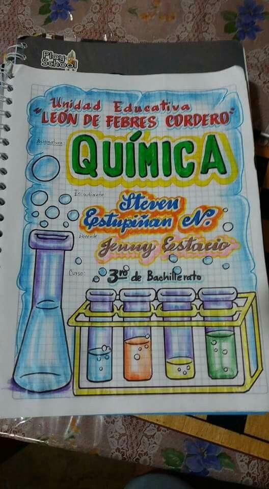 Quimica Carátulas Web Cuadernos Escolares Cuadernos Y Carátulas