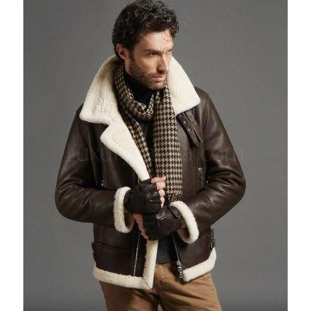 Men S Turkey Sheepskin Classic B 3 Bomber Jacket