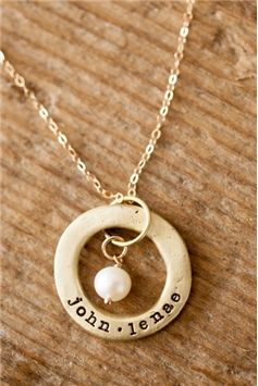 gold-toned open circle necklace