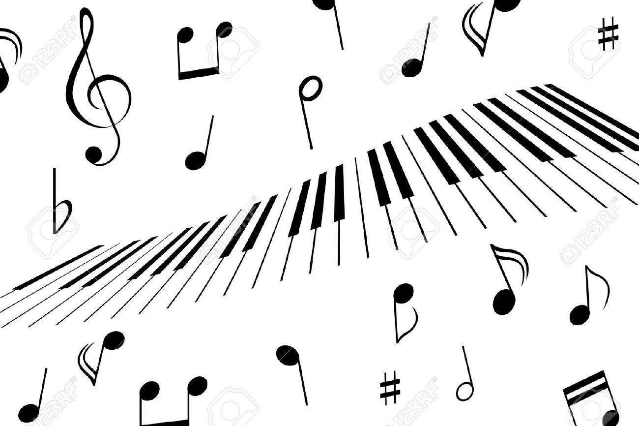 Musik Noten Rund Um Die Klaviertasten Klaviertasten Noten Klavier