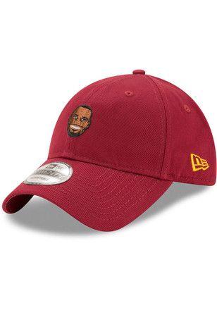 cbebdec45d1e25 LeBron James New Era Cleveland Cavaliers Mens Maroon Primary Player 9TWENTY  Adjustable Hat