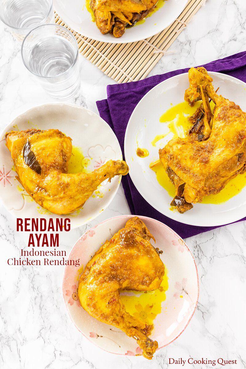 Rendang Ayam Indonesian Chicken Rendang Recipe Daily Cooking Quest Cooking Indonesian Chicken Recipe Recipes
