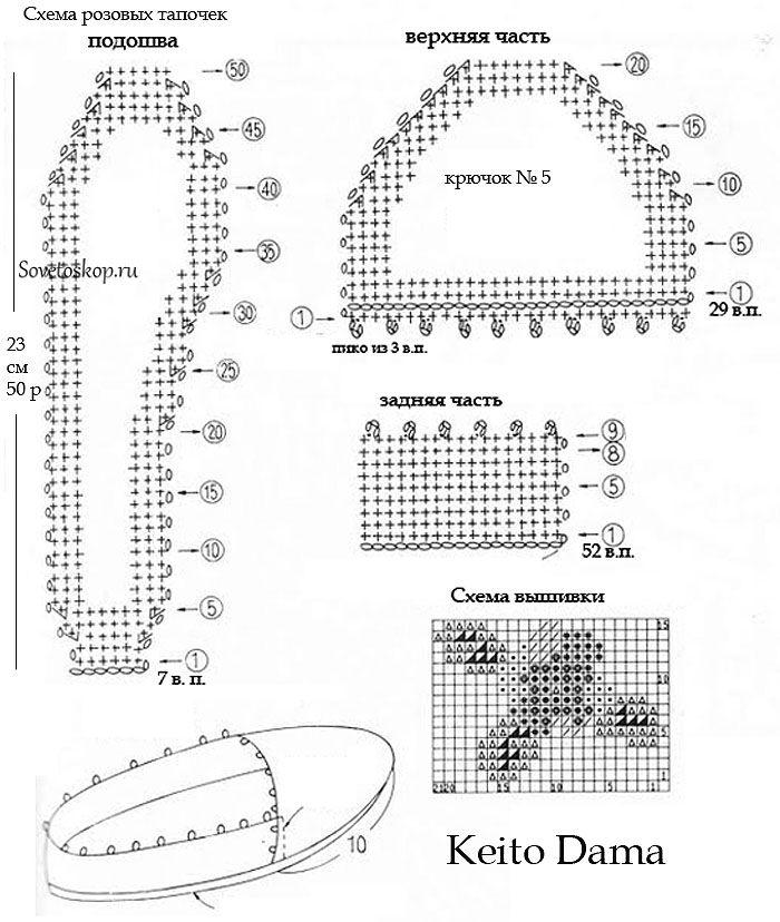 Схема вязания ботиночек с картинками