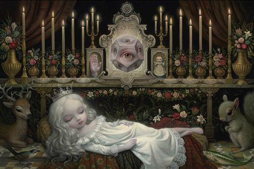 Awakening The Moon Lowbrow Art Print Mark Ryden Tainted Visions