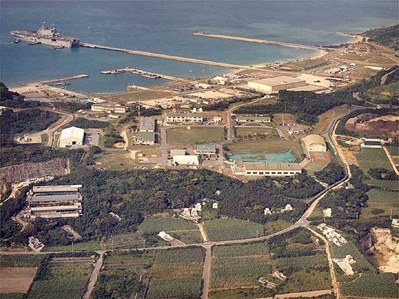 Okinawa An Marine Base White Beach Naval Facility Sailed From On Uss Schenectady Lst 1185 To Tinian Via Guam For Refueling Early Nov