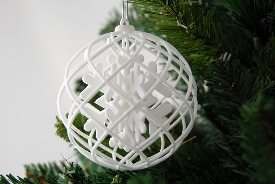 Christmas Ball 3d Printed Jewelry 3d Printing 3d Printing Diy