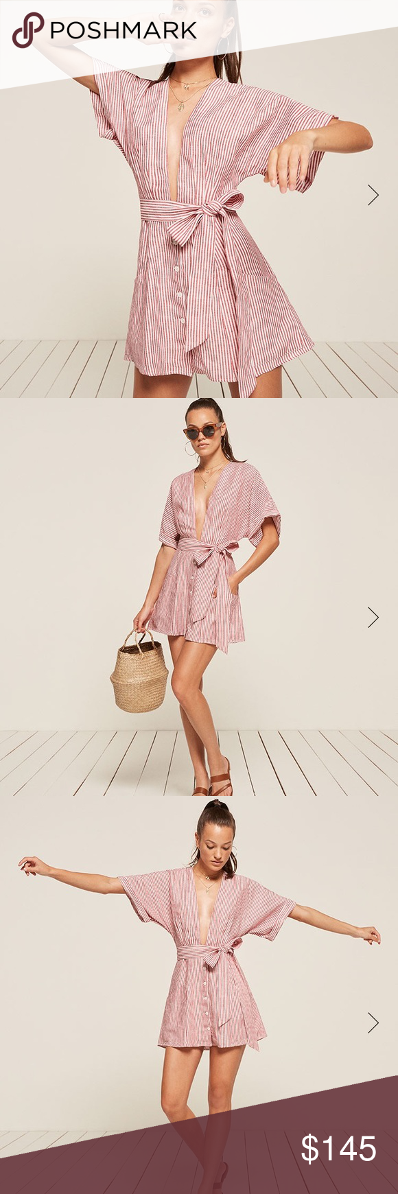 df3ff1ece5a0 ✨NWT Reformation Cecilia Dress The loveliest linen mini dress! Decided to  sell this one