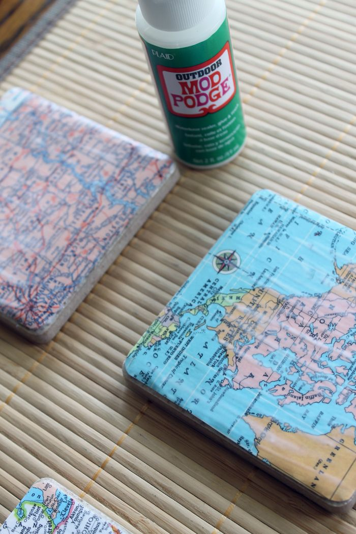 diy map coasters map coasters coasters and gift