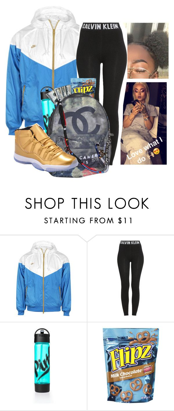 """Untitled #418"" by kfashion757 ❤ liked on Polyvore featuring NIKE, Calvin Klein and Chanel"