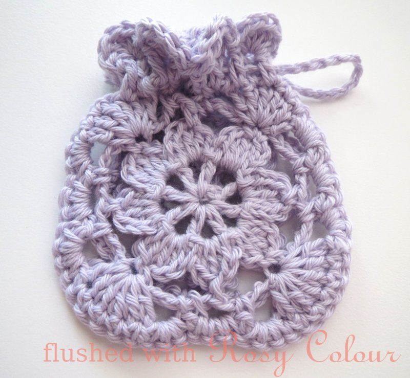 Flushed With Rosy Colour Little Lavender Sachet Free Crochet