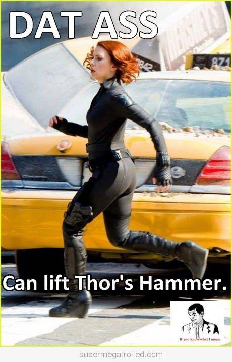 Black Widow Can Lift Thor S Hammer Scarlett Johansson