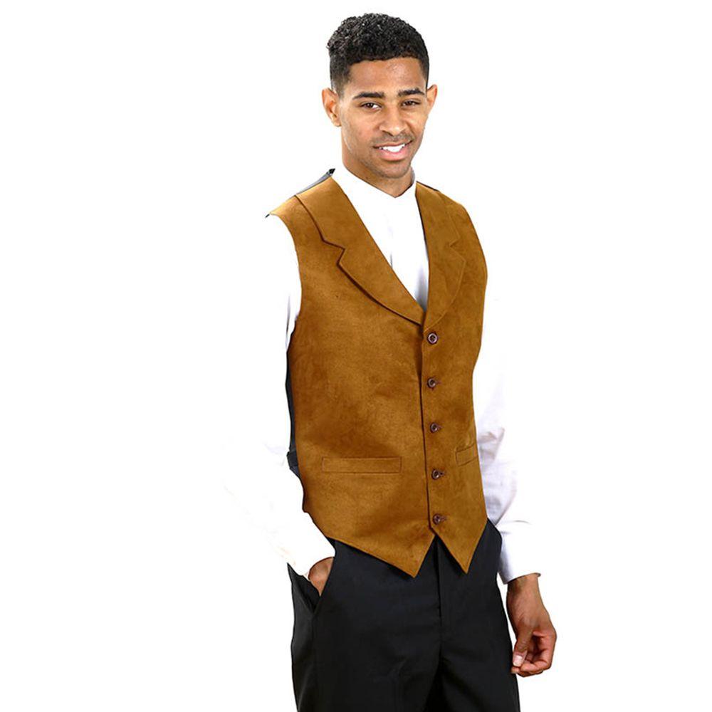 Men S Rust Suede Notch Lapel Dress Vest Vest Dress Vest Mens Vests [ 1000 x 1000 Pixel ]