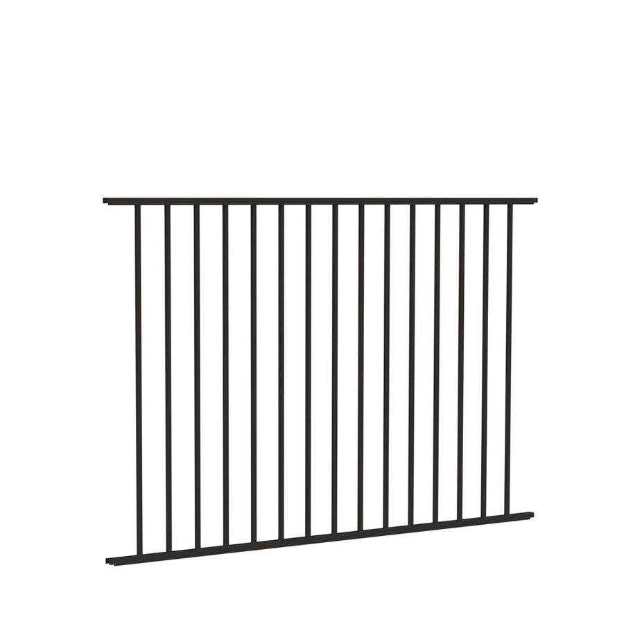Freedom Standard Easton Black Aluminum Decorative Metal Fence
