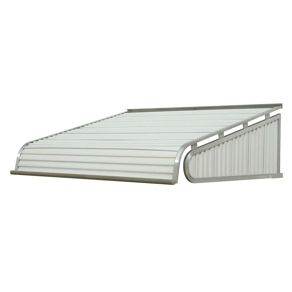 Nuimage Awnings 7 Ft 1500 Series Door Canopy Aluminum Awning 16 In H X 42 In D In White K150708401 The Home Depot Aluminum Awnings Door Canopy Aluminium Doors