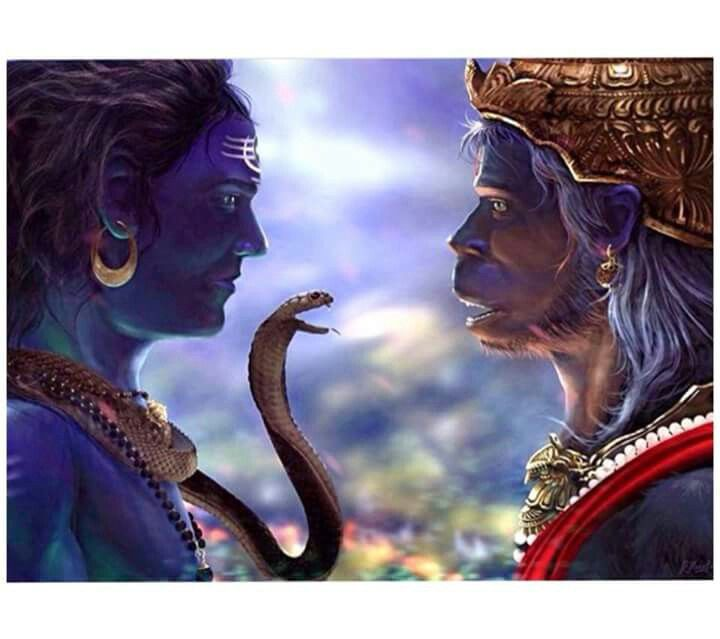 Shiva and Hanuman (The 14th Avatar of Shiva)                                                                                                                                                                                 More