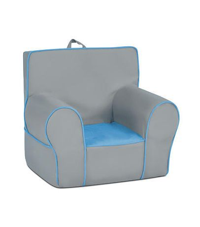 Zippity Kids Grab N Go Foam Chair Pebble Grey Amp Sky Blue