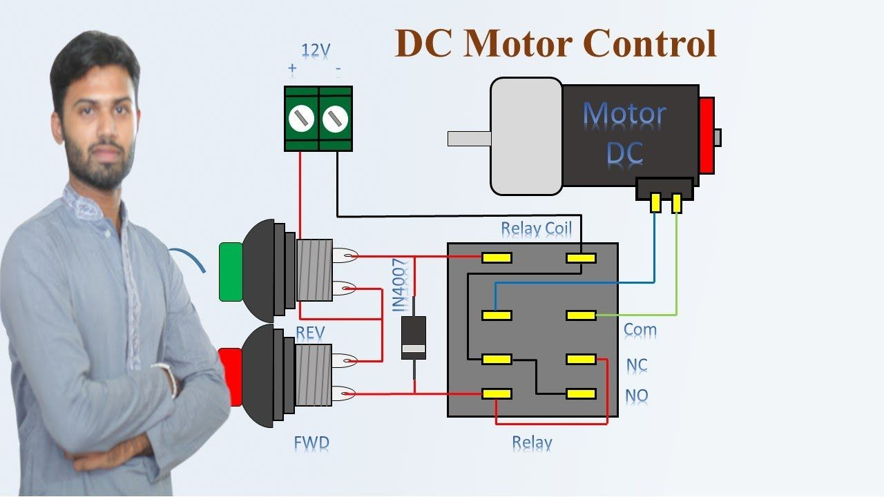 Dc Motor Control Forward Reverse And Stop Dc Motor Forward Reverse D Motor Control Inductors