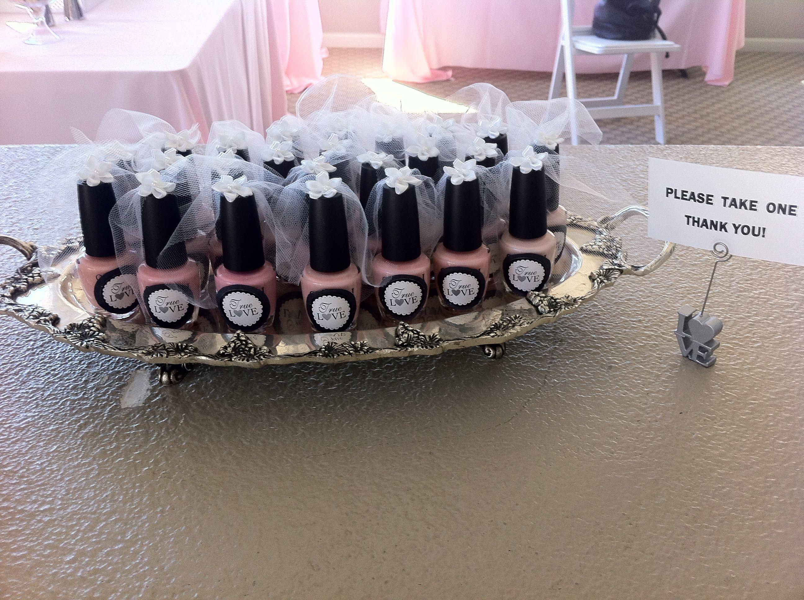 Bride Nail Polish Favors