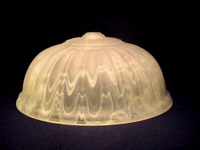 Antique Lamp Shades On Vintage Slag Glass Lamp Shade White Ivory Zig Zag 4  X 9